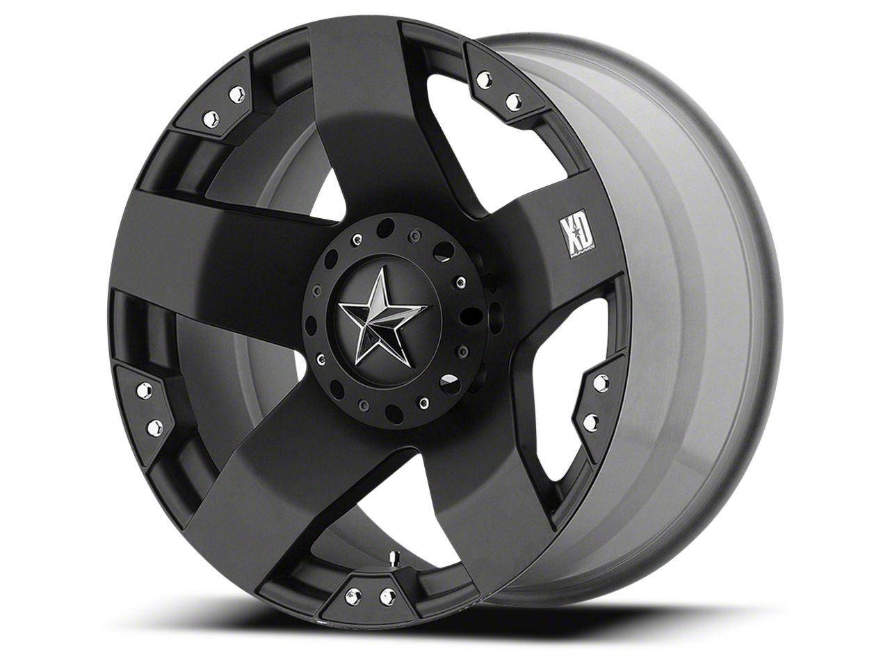 Rockstar XD775 Matte Black 6-Lug Wheel - 22x9.5 (99-18 Silverado 1500)