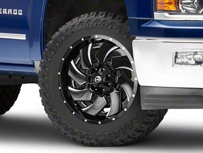 Fuel Wheels Cleaver Black Milled 6-Lug Wheel - 22x10 (99-18 Silverado 1500)