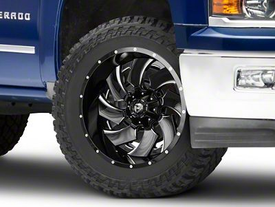 Fuel Wheels Cleaver Black Milled 6-Lug Wheel - 22x12 (99-18 Silverado 1500)