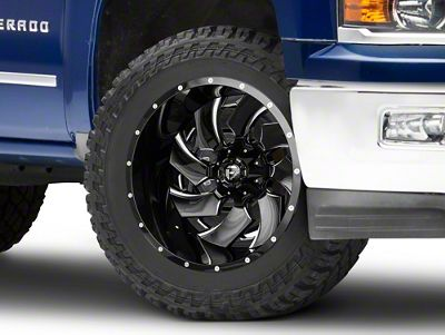 Fuel Wheels Cleaver Black Milled 6-Lug Wheel - 22x14 (99-18 Silverado 1500)