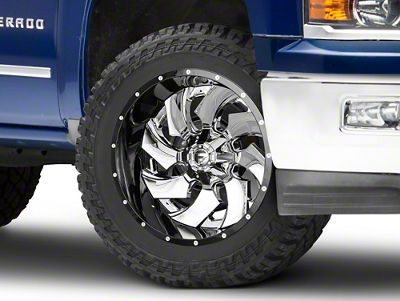 Fuel Wheels Cleaver Chrome w/ Gloss Black 6-Lug Wheel - 22x12 (99-18 Silverado 1500)