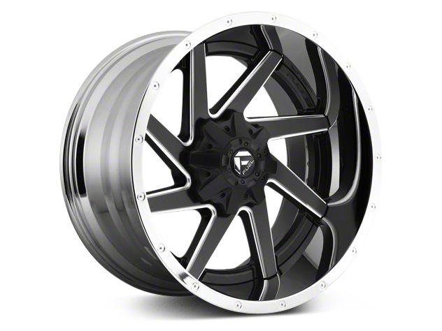 Fuel Wheels Renegade Black Milled w/ Chrome 6-Lug Wheel - 22x10 (07-18 Silverado 1500)