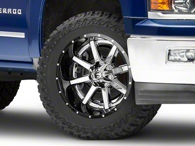 Fuel Wheels Maverick Chrome w/ Gloss Black Lip 6-Lug Wheel - 22x12 (99-18 Silverado 1500)