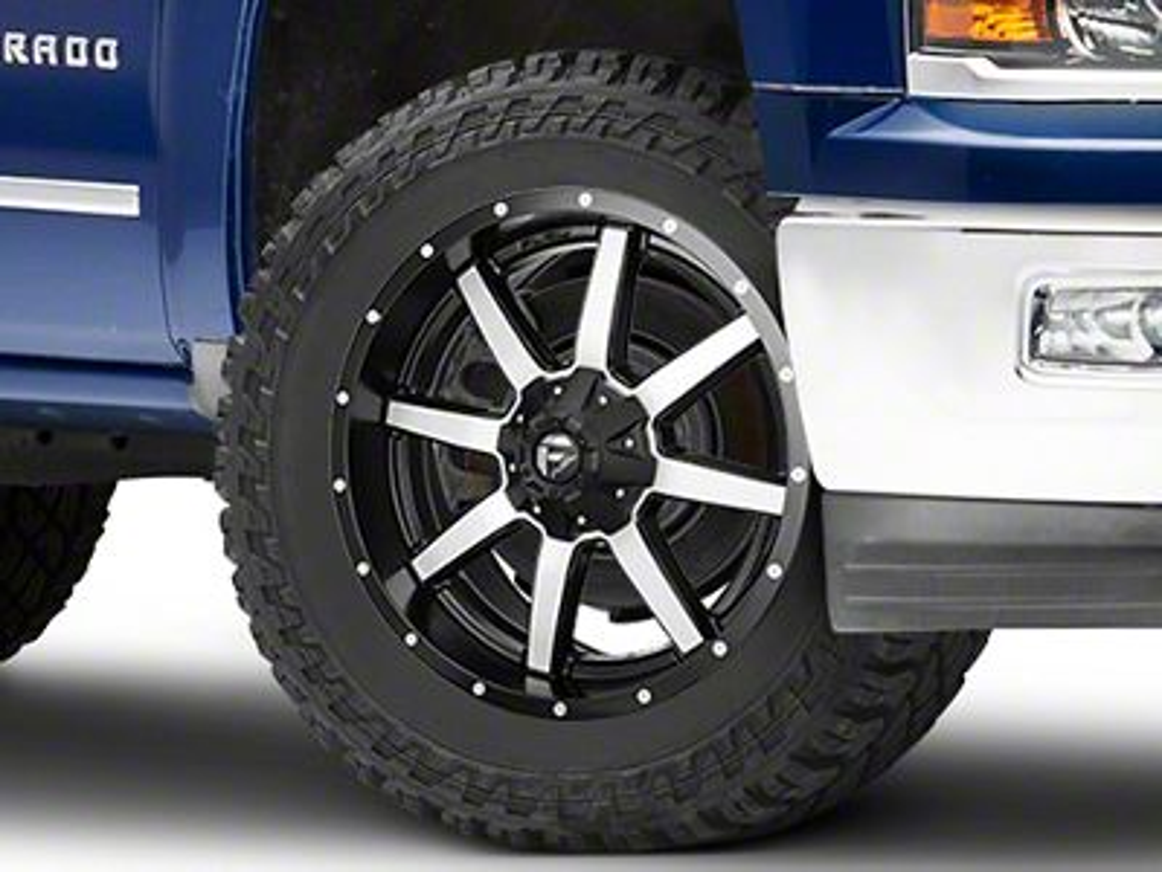 Fuel Wheels Maverick Black Machined 6-Lug Wheel - 22x9.5 (99-18 Silverado 1500)