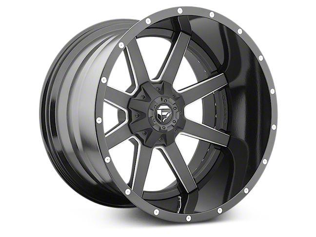 Fuel Wheels Maverick Black Milled 6-Lug Wheel - 22x12 (99-18 Silverado 1500)