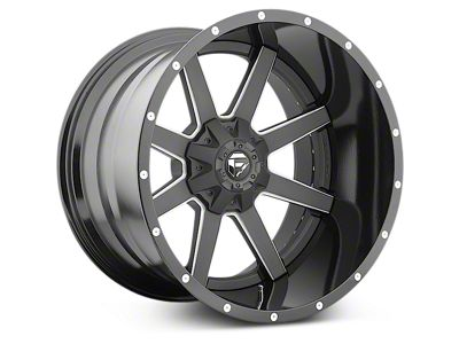 Fuel Wheels Maverick Black Milled 6-Lug Wheel - 22x14 (99-18 Silverado 1500)