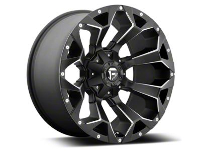 Fuel Wheels Assault Black Miled 6-Lug Wheel - 22x12 (99-18 Silverado 1500)