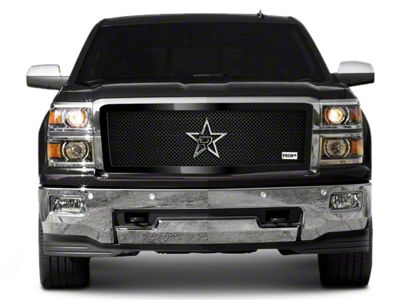 RBP RL Series Smooth Frame Upper Grille Insert - Black (14-15 Silverado 1500)