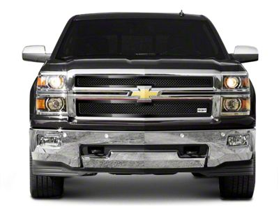 RBP RL Series Smooth Frame 2-Piece Upper Grille Insert - Black (14-15 Silverado 1500, Excluding Z71)