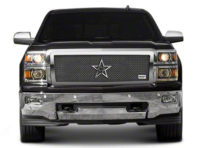 RBP RL Series Smooth Frame Upper Grille Insert - Chrome (14-15 Silverado 1500)
