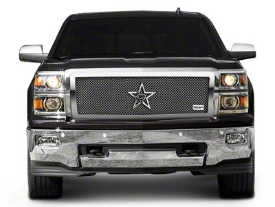 RBP RL Series Smooth Frame 2-Piece Upper Grille Insert - Chrome (14-15 Silverado 1500, Excluding Z71)