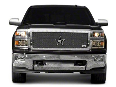 RBP RX-5 HALO Series Studded Frame Upper Grille Insert - Chrome (14-15 Silverado 1500)
