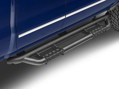 RBP RX-3 Cab Length Side Step Bars - Black (07-18 Silverado 1500 Extended/Double Cab)