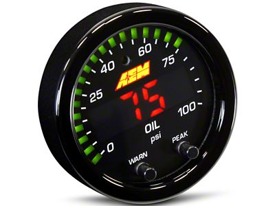 AEM Electronics X-Series Oil Pressure Gauge - Electrical (99-18 Silverado 1500)