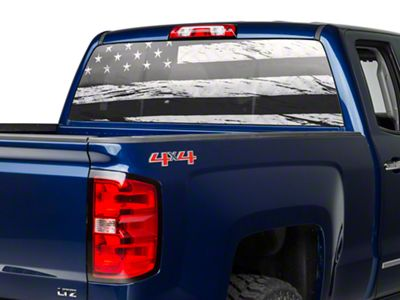 Perforated Distressed Flag Rear Window Decal (07-18 Silverado 1500)
