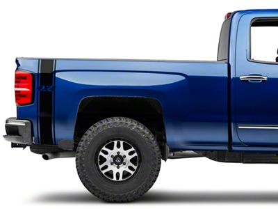 Black Rear Vertical Stripe w/ 4x4 Logo (07-18 Silverado 1500)