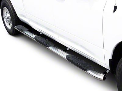 Black Horse Off Road 5 in. Extreme Wheel to Wheel Side Step Bars - Stainless Steel (07-13 Silverado 1500 Crew Cab)