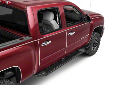 Black Horse Off Road Armour Running Boards - Black (14-18 Silverado 1500 Crew Cab)