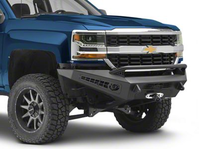 Addictive Desert Designs HoneyBadger Front Bumper w/ Winch Mount (16-18 Silverado 1500)