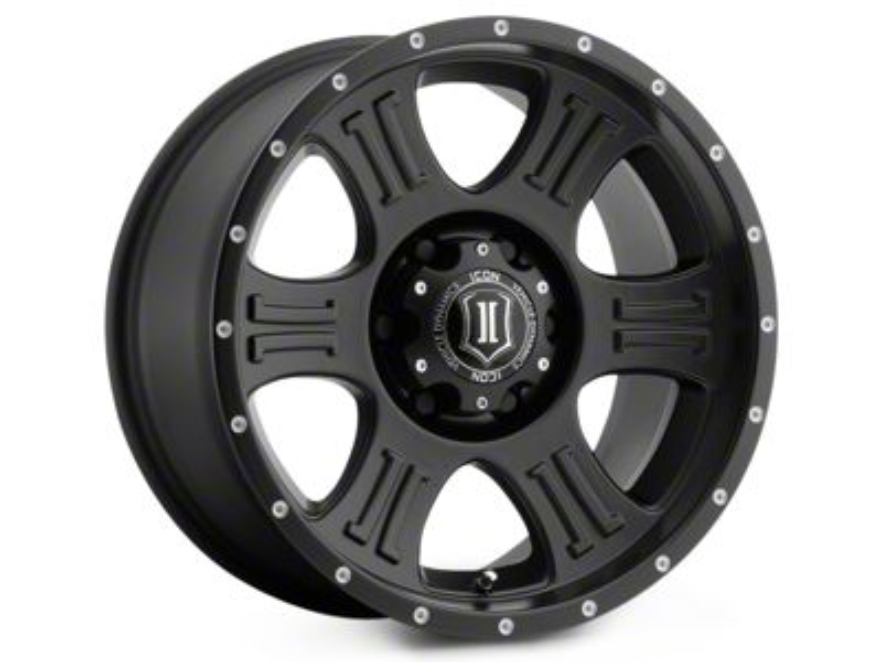 ICON Vehicle Dynamics Shield Satin Black 6-Lug Wheel - 17x8.5 (99-18 Silverado 1500)