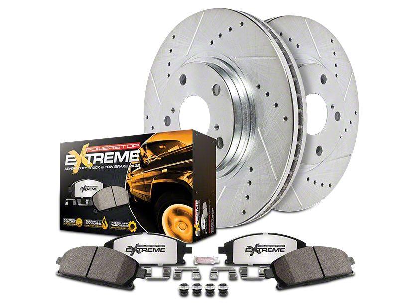 Power Stop Z36 Extreme Truck & Tow Brake Rotor & Pad Kit - Front & Rear (07-13 Silverado 1500 w/ Rear Disc Brakes)
