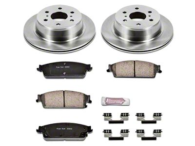 Power Stop OE Replacement Brake Rotor & Pad Kit - Rear (07-13 Silverado 1500 w/ Rear Disc Brakes)
