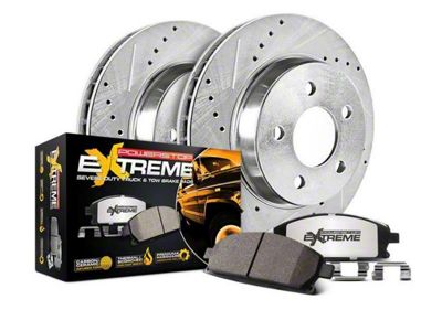 Power Stop Z36 Extreme Truck & Tow Brake Rotor & Pad Kit - Rear (14-18 Silverado 1500)