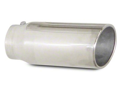 Pypes 5 in. Rolled Angled Cut Exhaust Tip - Polished Stainless - 3.0 in. Connection (99-18 Silverado 1500)