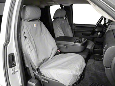 Covercraft Carhartt Seat Saver Front Seat Covers - Gravel (07-13 Silverado 1500 w/ Bucket Seats)