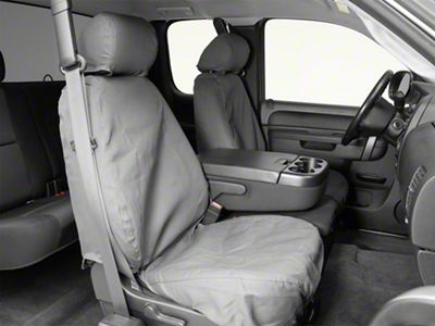 Covercraft Seat Saver Front Seat Covers - Charcoal (07-13 Silverado 1500 w/ Bucket Seats)