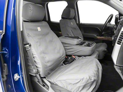 Covercraft Carhartt Seat Saver Front Seat Covers - Gravel (14-18 Silverado 1500 w/ Bench Seat)