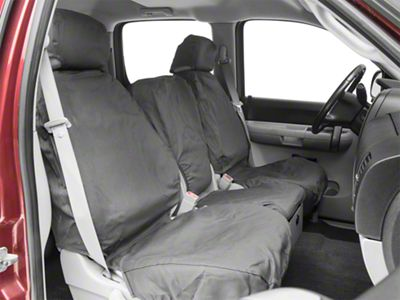 Covercraft Seat Saver Front Seat Covers - Charcoal (07-13 Silverado 1500 w/ Bench Seat)