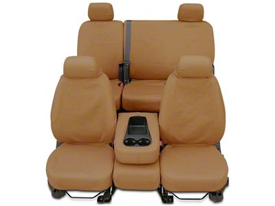 Covercraft Seat Saver Front Seat Covers - Tan (14-18 Silverado 1500 w/ Bench Seat)