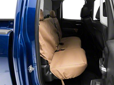 Covercraft Seat Saver 2nd Row Seat Cover - Tan (14-18 Silverado 1500 Double Cab, Crew Cab)