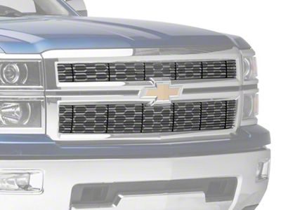 T-REX Biller Series Upper Replacement Grille - Black (14-15 Silverado 1500)