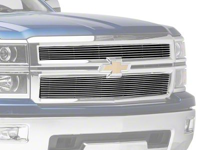 T-REX Biller Series Upper Replacement Grilles - Polished (14-15 Silverado 1500)