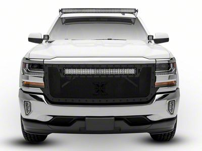 T-REX Stealth Metal Series Upper Replacement Grille w/ 30 in. LED Light Bar (16-18 Silverado 1500)