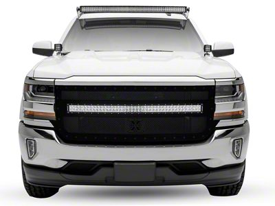 T-REX Stealth Metal Series Upper Replacement Grille w/ 40 in. LED Light Bar (16-18 Silverado 1500)