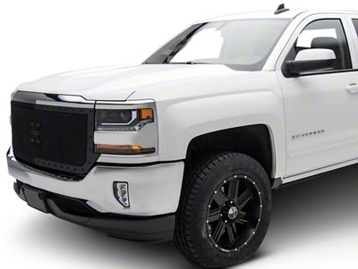 T-REX Stealth Metal Series Full Opening Design Upper Replacement Grille - Black (16-18 Silverado 1500)