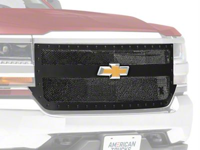 T-REX Stealth Metal Series 1-Bar Design Upper Replacement Grille - Black (16-18 Silverado 1500)