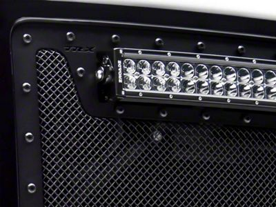 T-REX Stealth Metal Series Upper Replacement Grille w/ 12 in. & Two 6 in. LED Light Bars - Black (07-13 Silverado 1500)