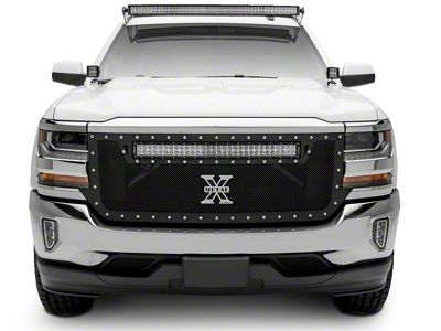 T-REX Torch Series Upper Replacement Grille w/ 30 in. LED Light Bar - Black (16-18 Silverado 1500)