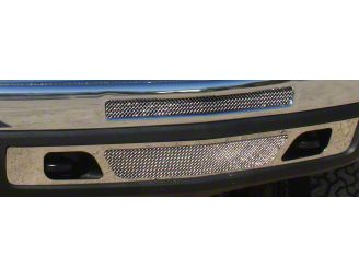 T-REX Upper Class Series Top Opening & Lower Air Dam Bumper Mesh Grille Inserts - Polished (07-13 Silverado 1500)