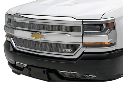 T-REX Upper Class Series Upper Overlay Mesh Grilles - Polished (16-18 Silverado 1500)