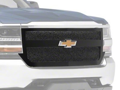 T-REX Upper Class Series 1-Bar Design Upper Replacement Mesh Grille - Black (16-18 Silverado 1500)