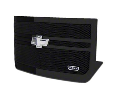 T-REX Upper Class Series 2-Bar Design Upper Replacement Mesh Grille - Black (16-18 Silverado 1500)