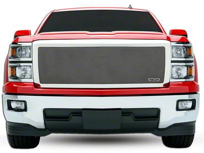 T-REX Upper Class Series Full Opening Design Upper Replacement Mesh Grille - Polished (14-15 Silverado 1500)