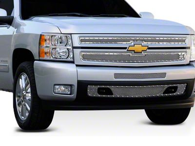 T-REX X-Metal Series Upper Overlay Grilles - Polished (07-13 Silverado 1500)
