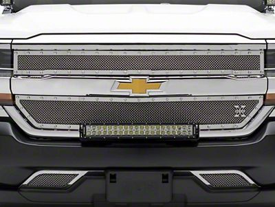 T-REX X-Metal Series Upper Overlay Grilles - Polished (16-18 Silverado 1500)