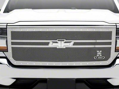 T-REX X-Metal Series 2-Bar Design Upper Replacement Grille - Polished (16-18 Silverado 1500)